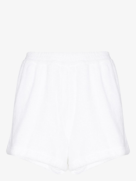 TERRY TOWELLING TERRY ESTATE SHORT SD SPLT STP HM WHTE in white