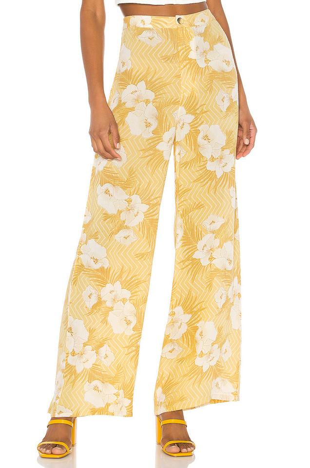 AMUSE SOCIETY Shady Shack High Waisted Pant in yellow