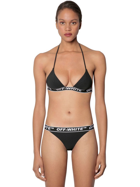 OFF-WHITE Logo Band Bikini in black