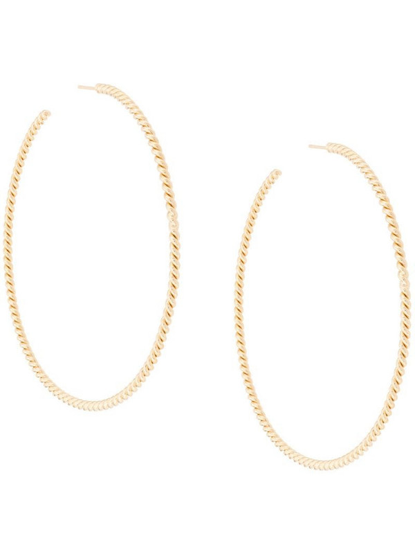 Isabel Lennse XL Twisted hoop earrings in gold