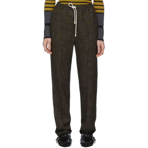 M Missoni Black and Brown Wool Houndstooth Trousers