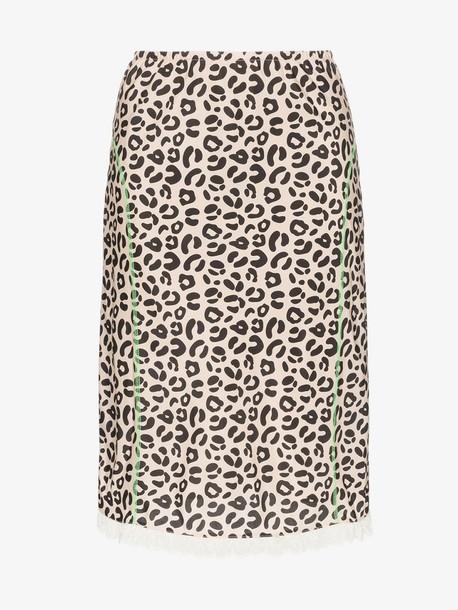 Sandy Liang leopard print slip skirt