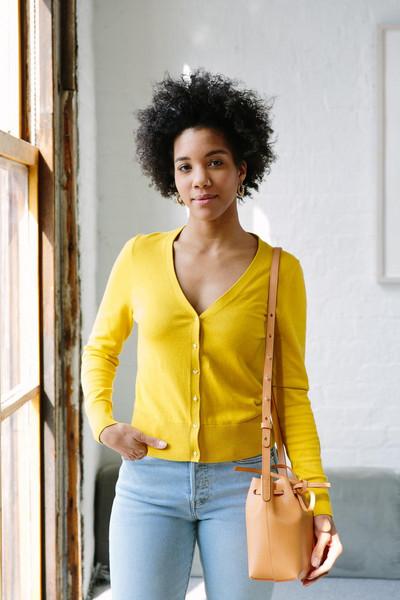 acupofjo blogger cardigan jewels bag
