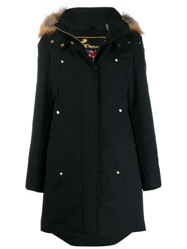 Moose Knuckles hooded parka in black