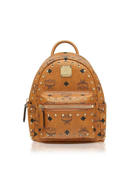 Mcm Studded Outline Visetos Stark Bebe Boo X-mini Backpack