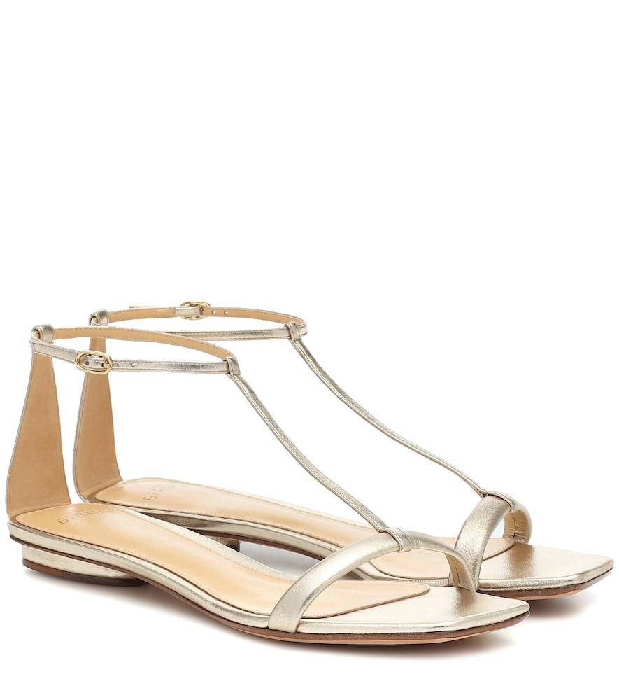 Alexandre Birman Lally metallic leather sandals in gold