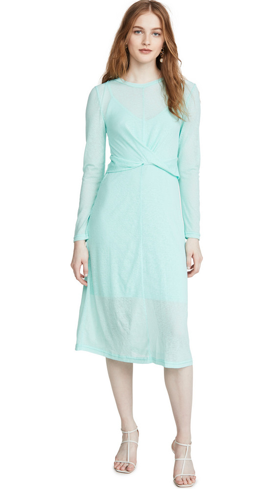 The Fifth Label Own Light Long Sleeve Midi Dress in mint