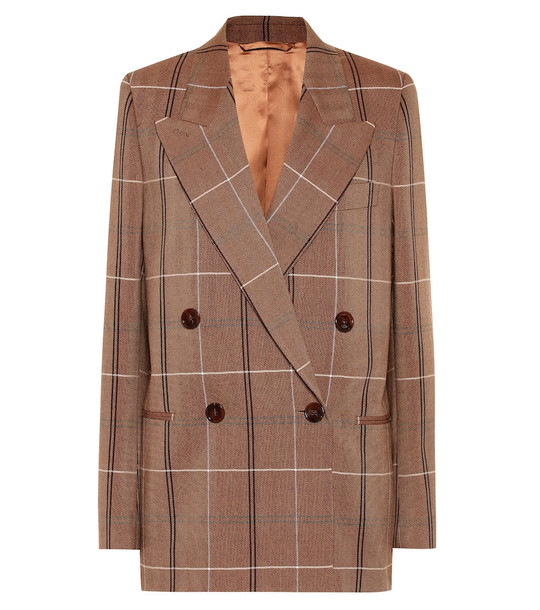 Acne Studios Wool and cotton-blend blazer in brown