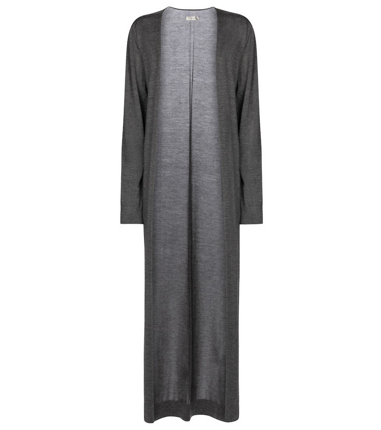 The Row Bayo cashmere and silk cardigan in grey