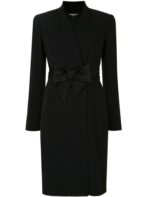 Paule Ka tailored wrap dress in black