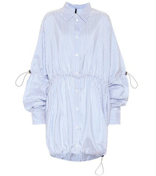 Unravel Striped cotton shirt in blue