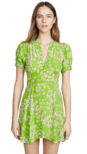 FAITHFULL THE BRAND Laurel Mini Dress in green