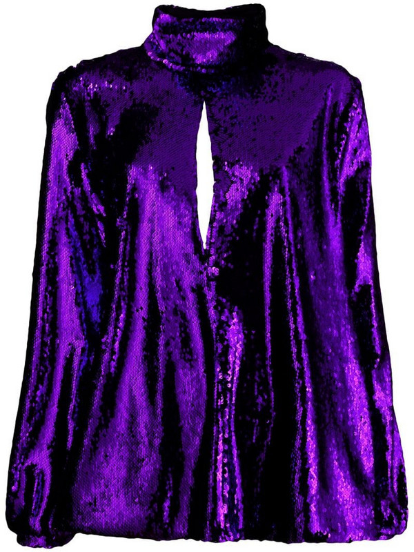 Racil sequin embroidery top in purple