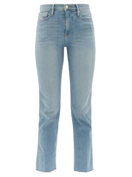 Frame - Le Sylvie High Rise Jeans - Womens - Blue