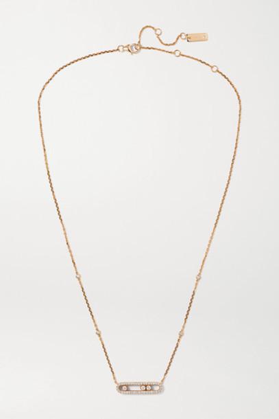 Messika - Baby Move 18-karat Rose Gold Diamond Necklace