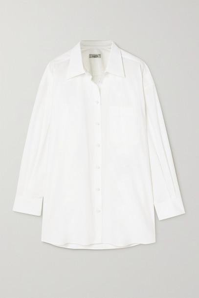 VALENTINO - Cotton-poplin Shirt - White
