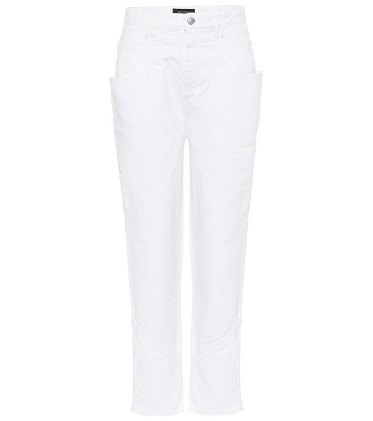 Isabel Marant Nadeloisa high-rise slim jeans in white