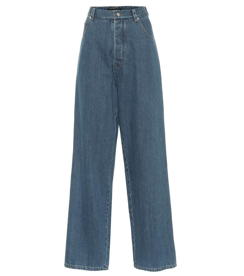 Kwaidan Editions High-rise wide-leg jeans in blue