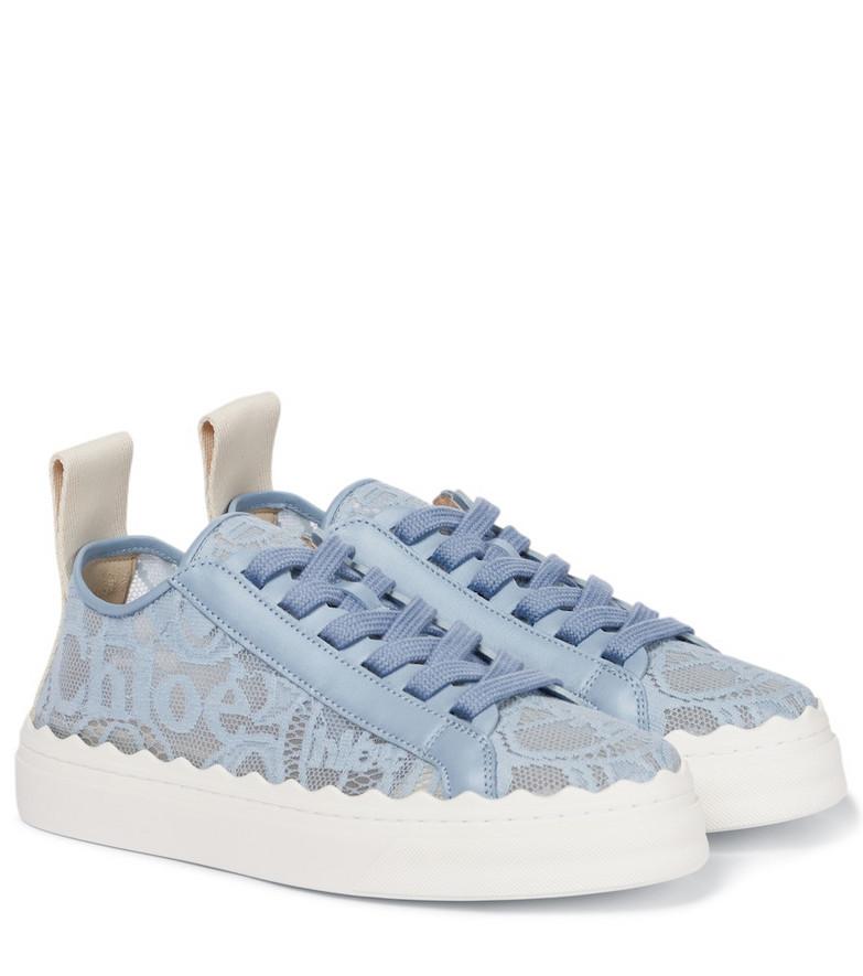 Chloé Lauren lace sneakers in blue
