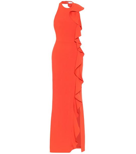 Rebecca Vallance Galerie crêpe gown in red