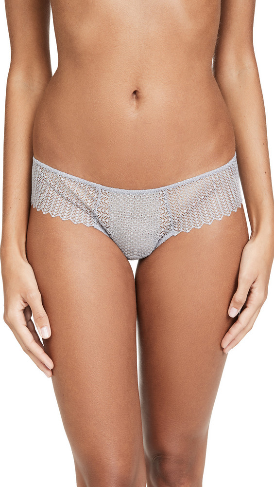 Eberjey Phoebe Classic Lace Thong in grey