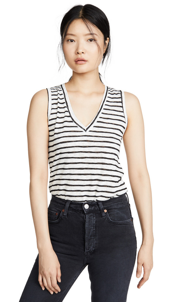 LNA Clara Tank in black / white