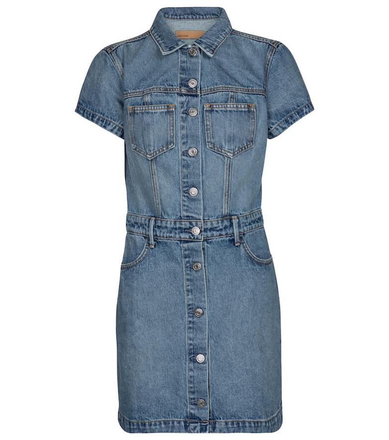 Grlfrnd Macie cotton denim minidress in blue