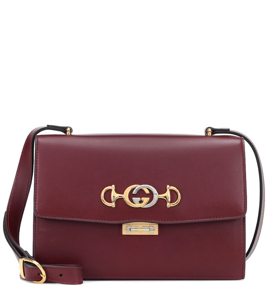 Gucci Zumi Small leather shoulder bag in red