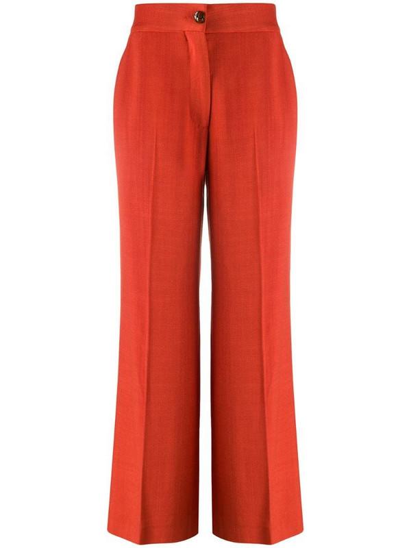 Blazé Milano Brumpy high-waisted trousers in orange