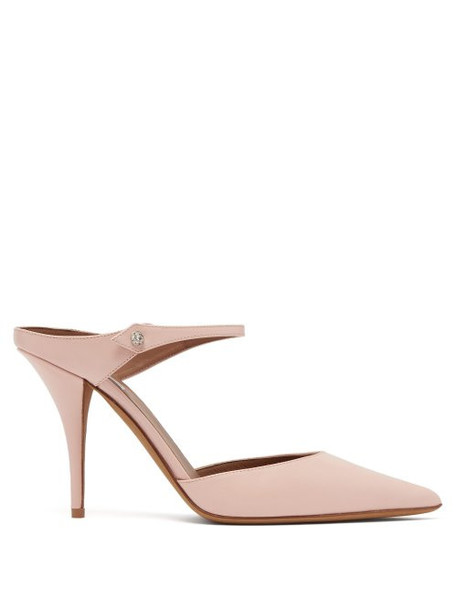 Tabitha Simmons - Allie Point Toe Leather Mules - Womens - Light Pink