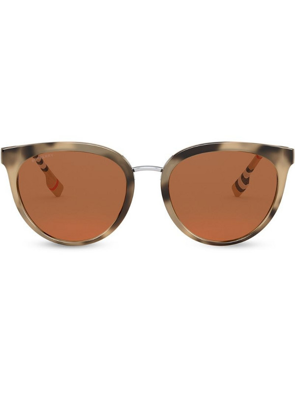 Burberry Eyewear oversize frame check print sunglasses in brown