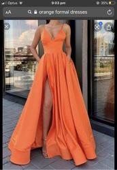 dress,orange,orange dress,formal dress