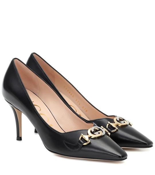 Gucci Zumi leather pumps in black