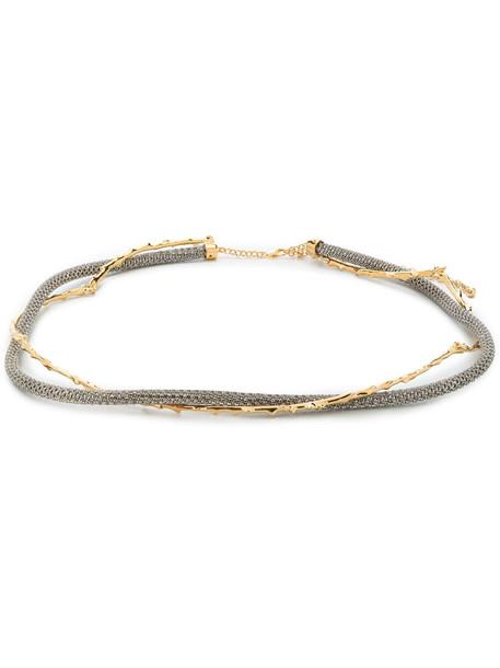 Chloé Chloé crystal-embellished belt - Gold
