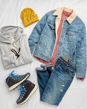 shoes,jacket,sweater,hat