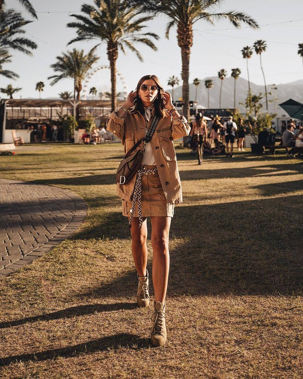 skirt mini skirt jacket ankle boots lace up boots dior bag white t-shirt
