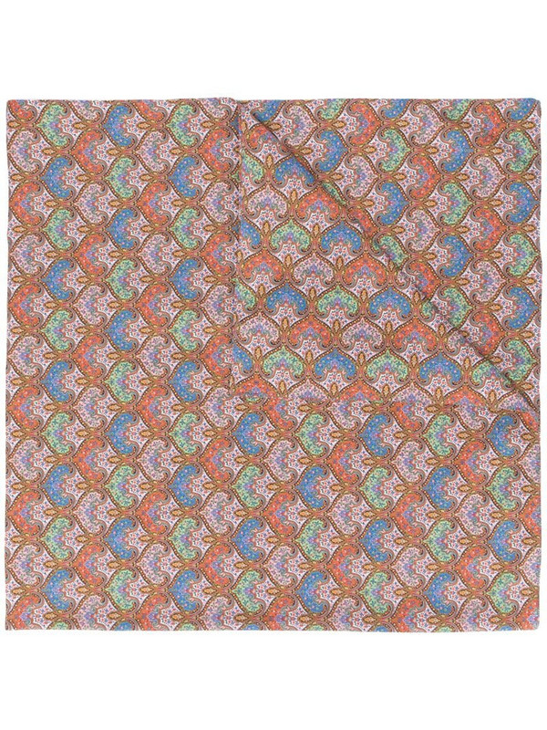 Mackintosh Rafferty paisley-print scarf in pink