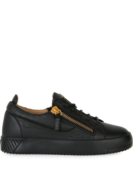 Giuseppe Zanotti Nicki crocodile-effect leather trainers in black