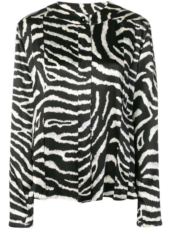 Valentino Pre-Owned 1980's zebra top in black