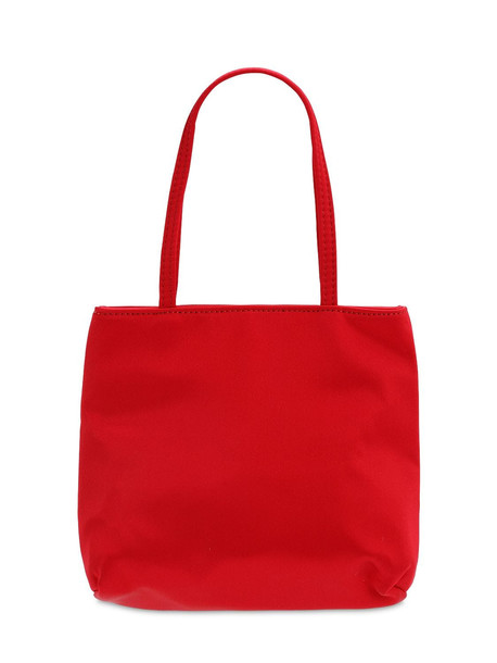 HAI Lvr Exclusive Red Silk Top Handle Bag