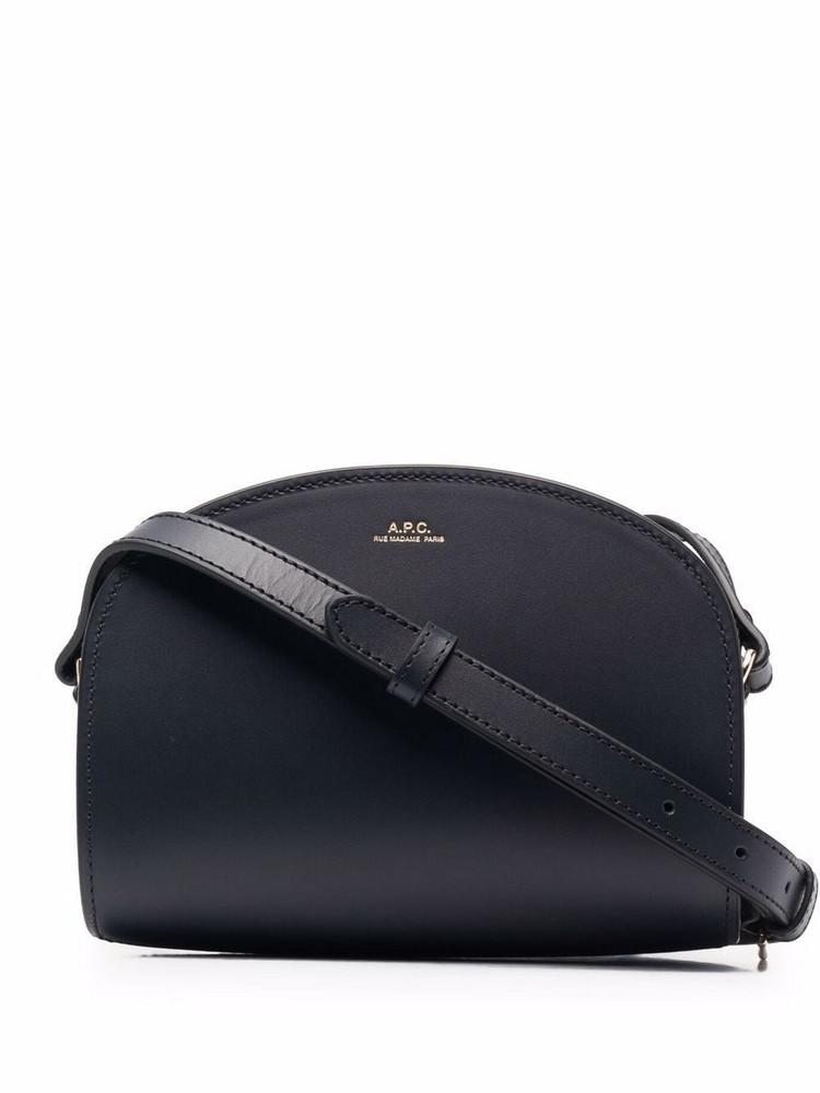 A.P.C. A.P.C. half-moon leather bag - Blue
