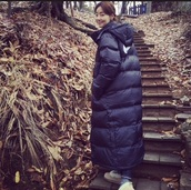coat,ikon,nike,K-pop,down jacket,winter outfits