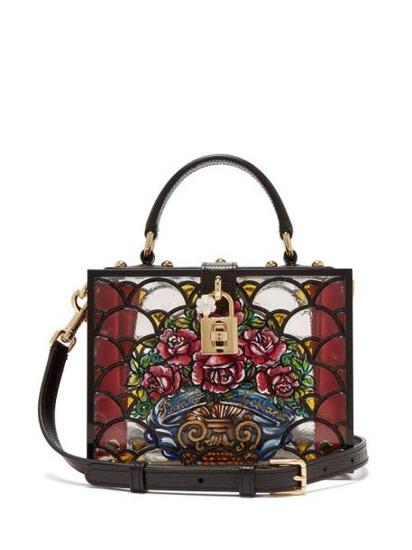 Dolce & Gabbana - Hand Painted Perspex Bag - Womens - Black Multi