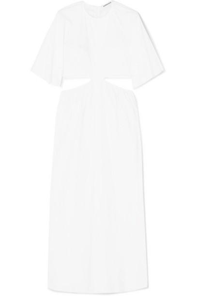 Georgia Alice - Milan Cutout Cotton-poplin Maxi Dress - White