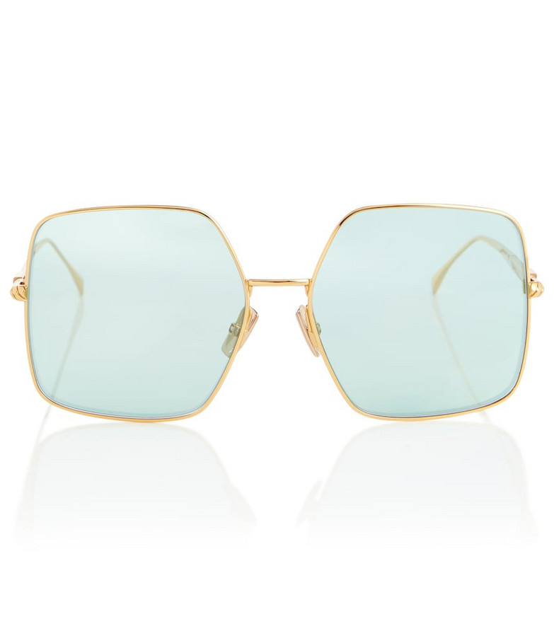Fendi Baguette oversized square sunglasses in gold