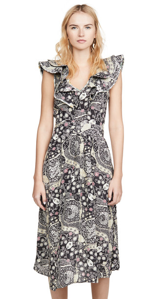 Isabel Marant Etoile Coraline Dress in black / beige