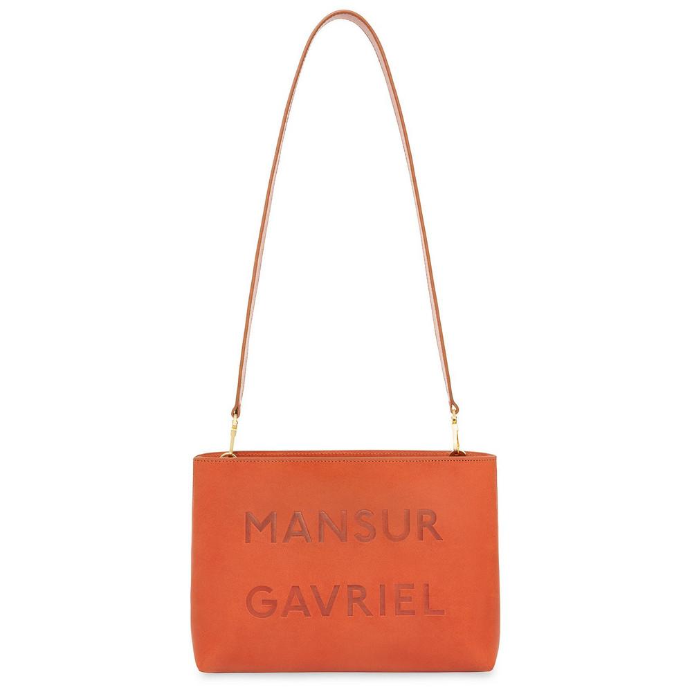 Mansur Gavriel Brandy Logo Shoulder Bag - Avion