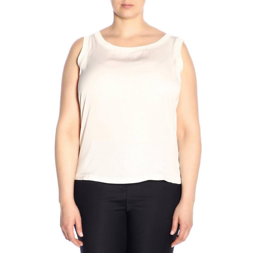 Marina Rinaldi Sweater Body Women Marina Rinaldi in white