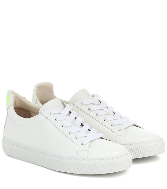 Sophia Webster Butterfly leather sneakers in white