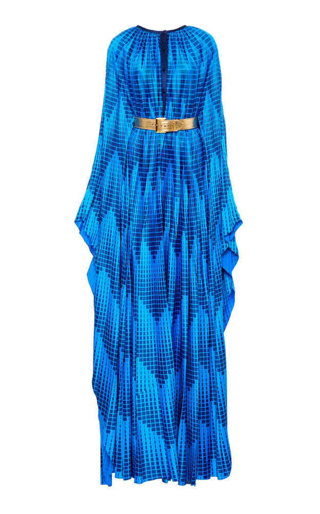 SemSem Printed Silk Jumpsuit Size: 0 in blue